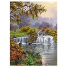 Картина-раскраска по номерам на холсте На природе
