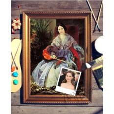 Портрет по фото на холсте Портрет княгини
