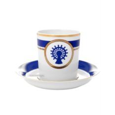 Фарфоровая чайная чашка с блюдцем Кают компания № 5