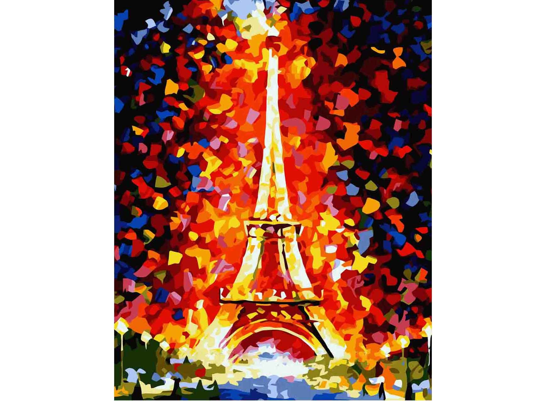Картины по номерам «Париж - огни Эйфелевой башни»
