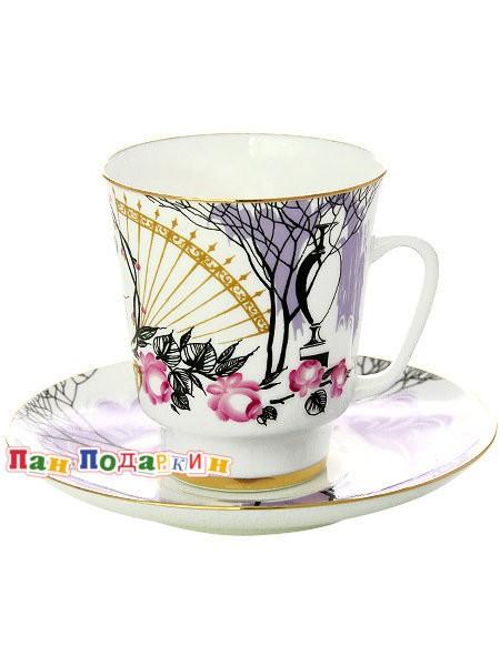 Чайная чашка с блюдцем Посвящение Анне Андреевне