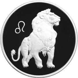 Лев, серебро, 3 рубля