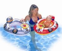Детская надувная лодочка Машинка с рулём