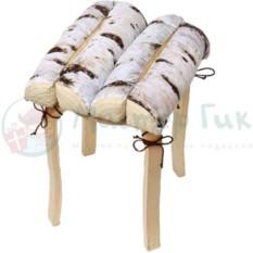 Подушка на стул Березовые поленья
