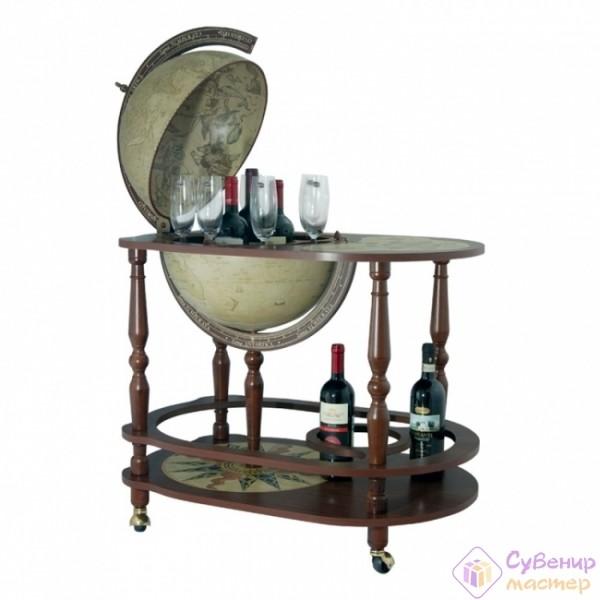 Глобус-бар со столиком «Антик», диаметр 40 см