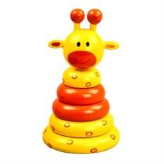 Деревянная игрушка Пирамидка Жираф