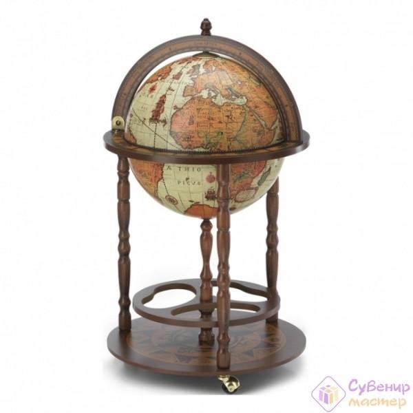Глобус-бар с подставкой для бутылок, диаметр 40 см