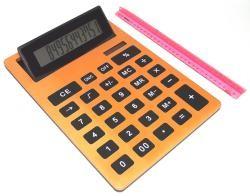 Калькулятор, большой оранжевый