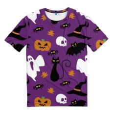 Мужская футболка 3D Веселый Хэллоуин