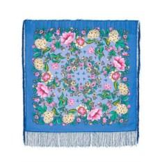 Павлопосадский платок с рисунком Цветомания