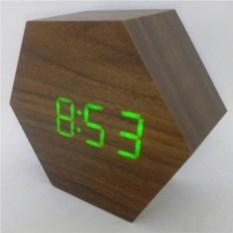 Деревянные LED часы