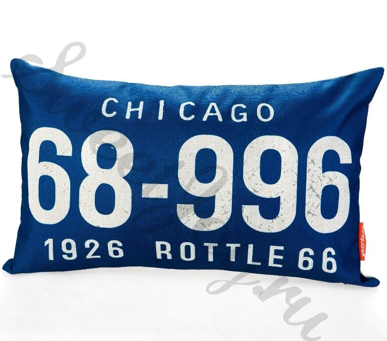 Декоративная подушка Car Number – Chicago