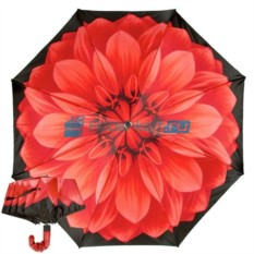 Складной зонт Pasotti Auto Rosso Pelle