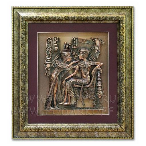 Панно «Тутанхамон с царицей»