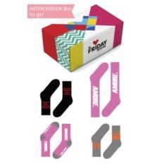 Дизайнерские носки KRIVDA BOX for girl