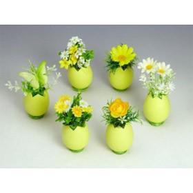 Цветочки в желтой скорлупке