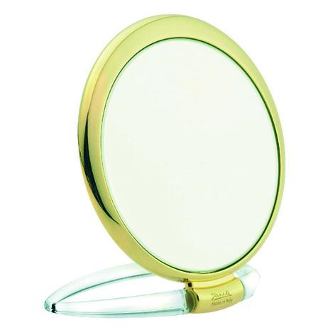 Зеркало круглое с футляром 3Х золотое