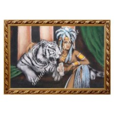 Картина из каменной крошки Белый тигр (40х60 см)
