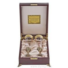 Набор из двух бокалов для шампанского Богемия Версаче