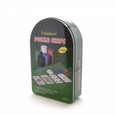 Набор для покера на 120 фишек в жестяной коробке