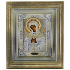 Икона Пресвятая Богородица Семистрельная (скань с эмалями)