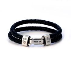 Плетеный браслет Wrangler черного цвета