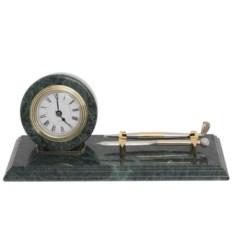 Мраморные настольные часы для руководителя с ручкой