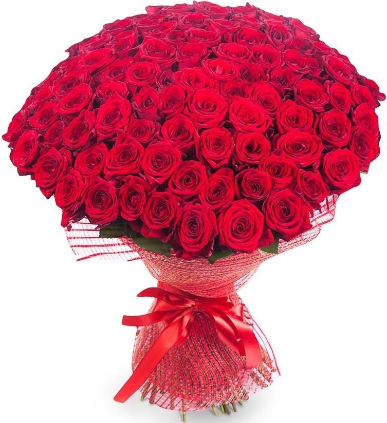 Букет цветов 101 роза (70 см.)