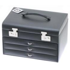 Черная шкатулка для украшений с выдвижными ящиками Davidt's