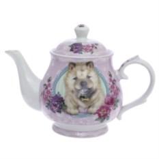 Розовый чайник Собачка, объем 400 мл