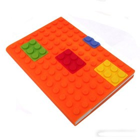 Блокнот lego, оранжевый