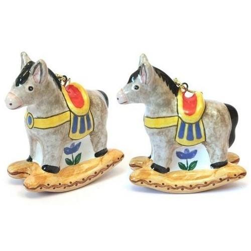 Ёлочная игрушка «Ослик-качалка»