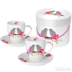 Набор чашек для эспрессо в подарочной коробке Love birds