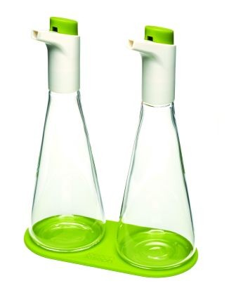 Набор для масла и уксуса Flo, зеленый