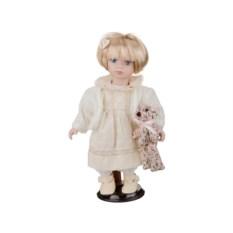 Фарфоровая кукла Вероника с мягконабивным туловищем