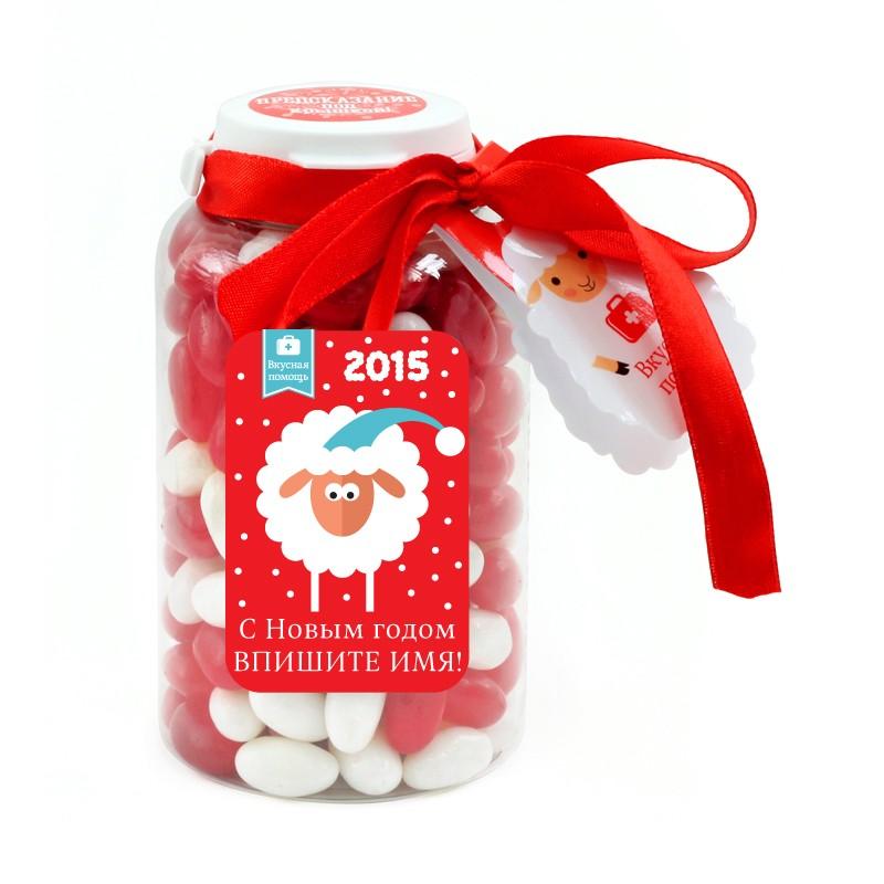 Вкусная помощь С Новым годом! (овца в колпаке, красная