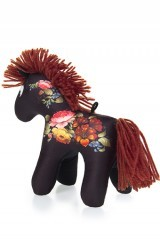 Мягка игрушка в виде лошадки Русский узор, 18х16 см