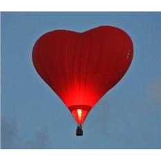 Полет на воздушном шаре-сердце для двоих