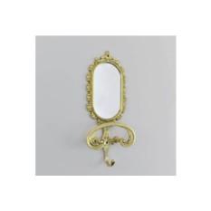 Настенное бронзовое зеркало с вешалкой