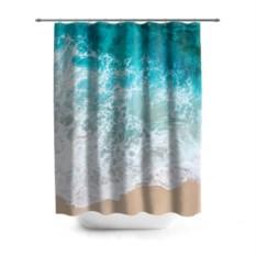 3D-штора для ванной Берег
