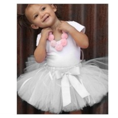 Белая детская юбка-пачка из фатина Белая