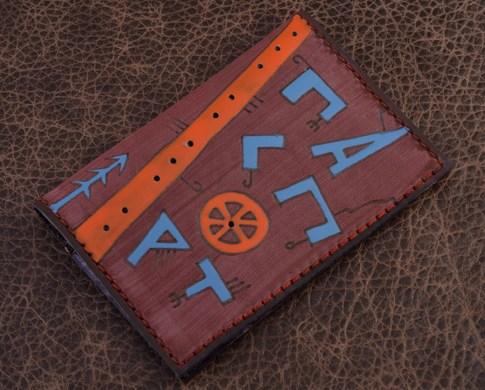 Обложка для паспорта. Коллекция Altamira (коричневый; тип 1; нат. кожа)
