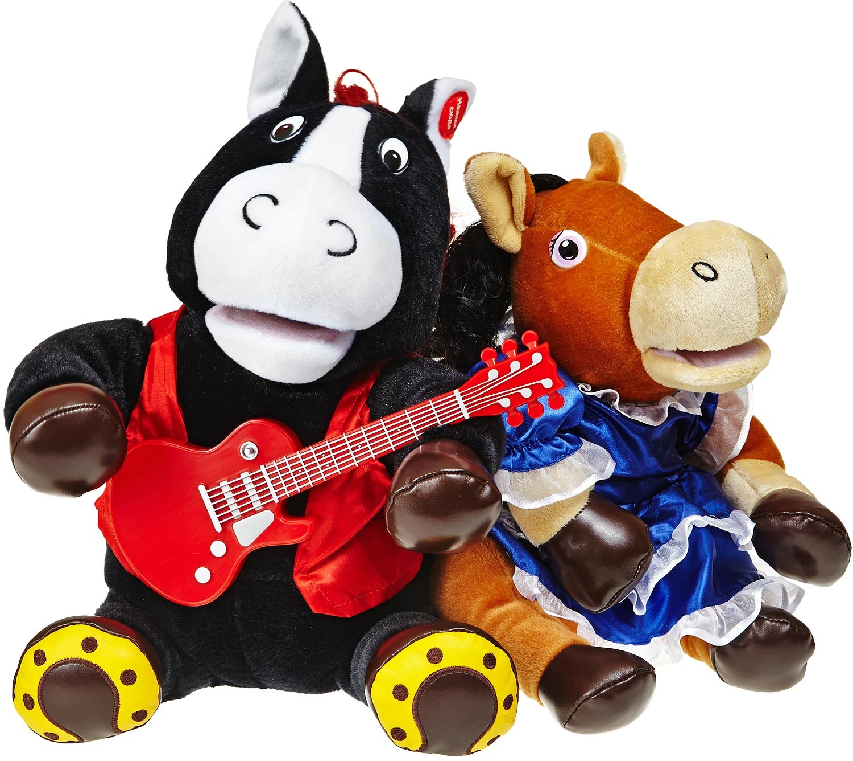 Поющая игрушка «Конь Вороной и Лошадка»