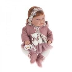 Кукла-младенец Ребека в розовом Munecas Antonio Juan