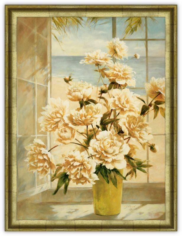 Постер Пионы на окне (Фабриса де Вильнев)