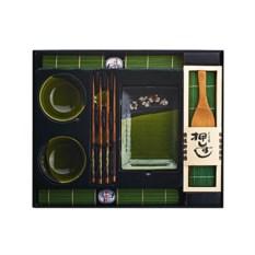 Темно-зеленый набор для суши на 2 персоны