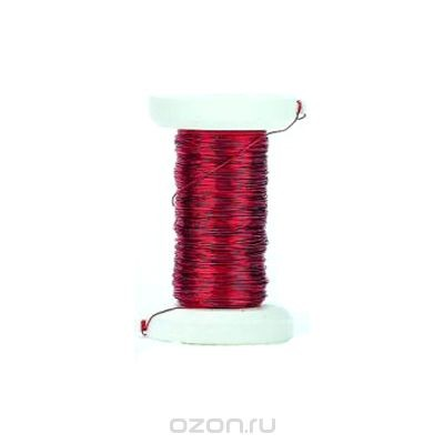 Декоративная проволока Glorex, цвет: красный, 0,25 мм х 40 м