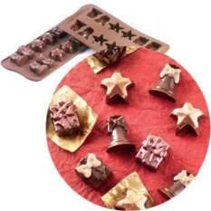 Форма для шоколадных конфет «Рождество» EasyChoc Silikomart