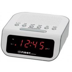 Белые радиочасы First, 0.6 LED красный, AM/FM