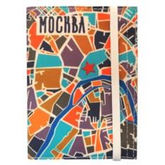 Пластиковая обложка на паспорт Карта Москвы